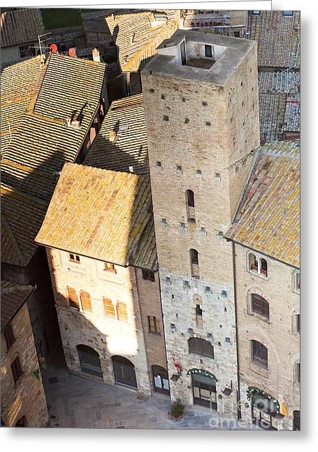 Chianti Greeting Cards - San Gimignano Greeting Card by Andre Goncalves