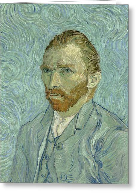 Self-portrait Greeting Cards - Self Portrait Greeting Card by Vincent van Gogh