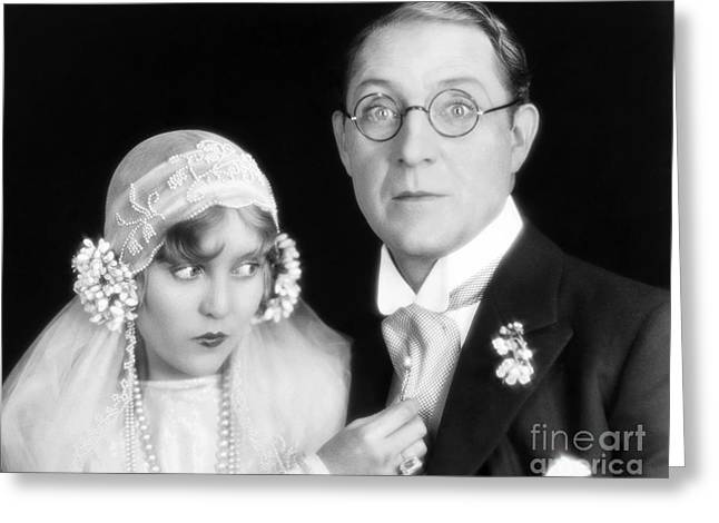 Unidentified Greeting Cards - Silent Film Still: Wedding Greeting Card by Granger