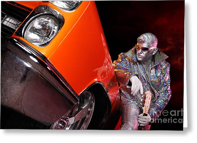 Outfit Greeting Cards - Silver Elvis Greeting Card by Oleksiy Maksymenko