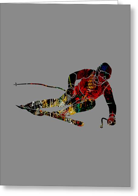 Downhill Skiing Greeting Cards - Skiing Collection Greeting Card by Marvin Blaine