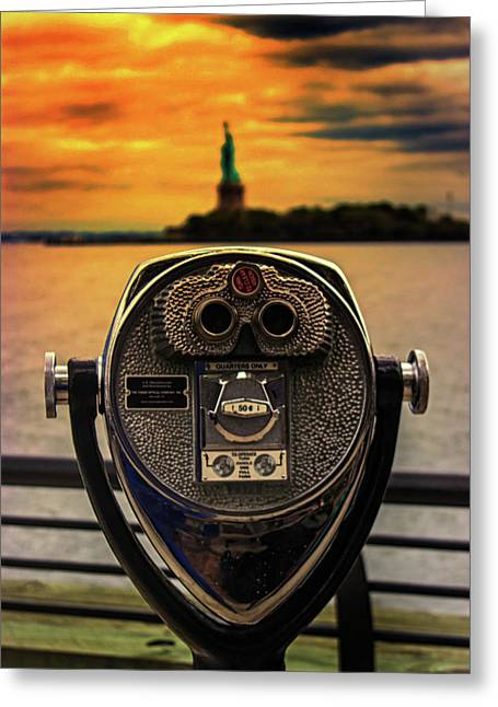 Statue Of Liberty Greeting Card by Martin Newman