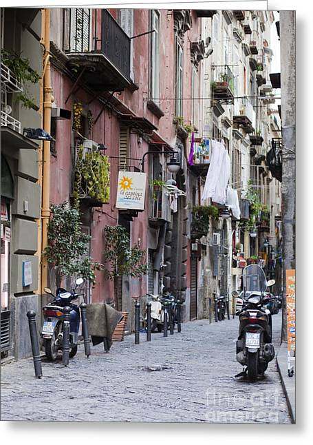 Old Street Greeting Cards - Streets of Naples Greeting Card by Andre Goncalves