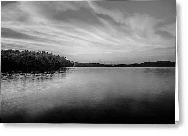 Outlook Greeting Cards - Sunset During Blue Hour At The Lake Greeting Card by Alexandr Grichenko