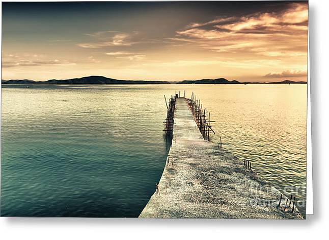 Palawan Greeting Cards - Sunset  Greeting Card by MotHaiBaPhoto Prints