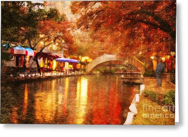 Riverwalk Greeting Cards - The Bridge Greeting Card by Iris Greenwell