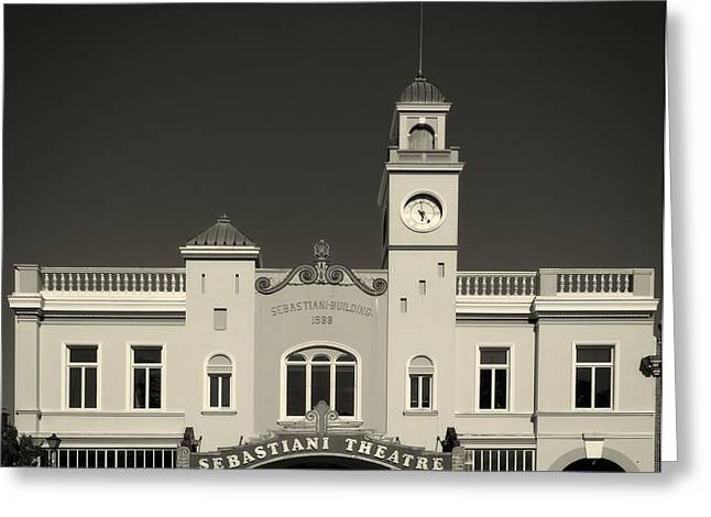 Sonoma Greeting Cards - The Sebastiani Theatre - Sonoma California Greeting Card by Mountain Dreams