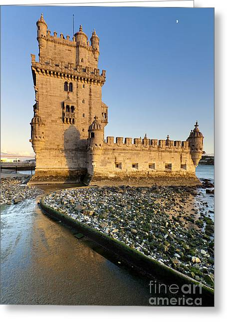 Historic Architecture Greeting Cards - Tower of Belem Greeting Card by Andre Goncalves
