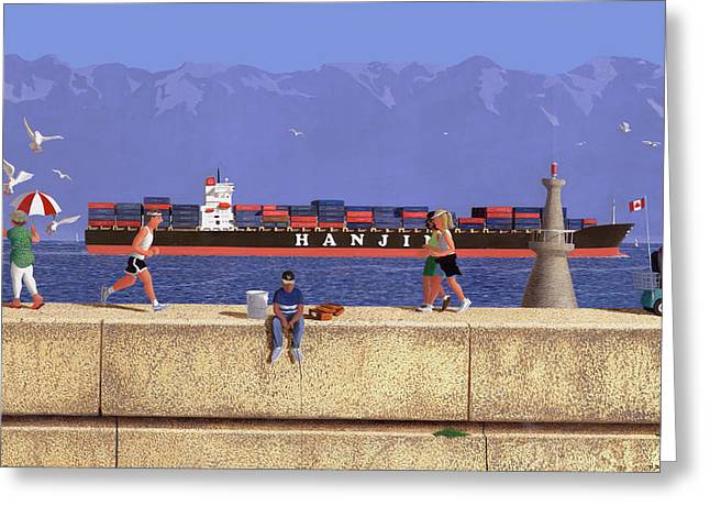 Victoria Breakwater In July Greeting Card by Neil Woodward