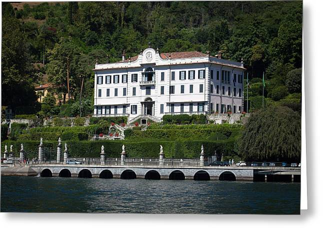 Residential Structure Greeting Cards - Villa Carlotta in Lake Como Greeting Card by Marco Scisetti