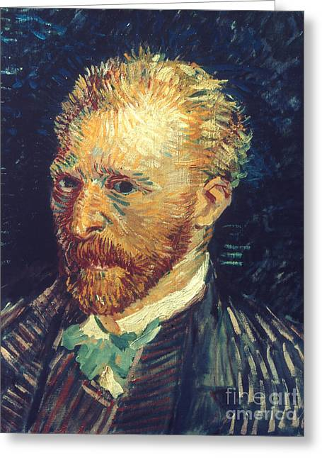 Self-portrait Photographs Greeting Cards - Vincent Van Gogh (1853-1890) Greeting Card by Granger
