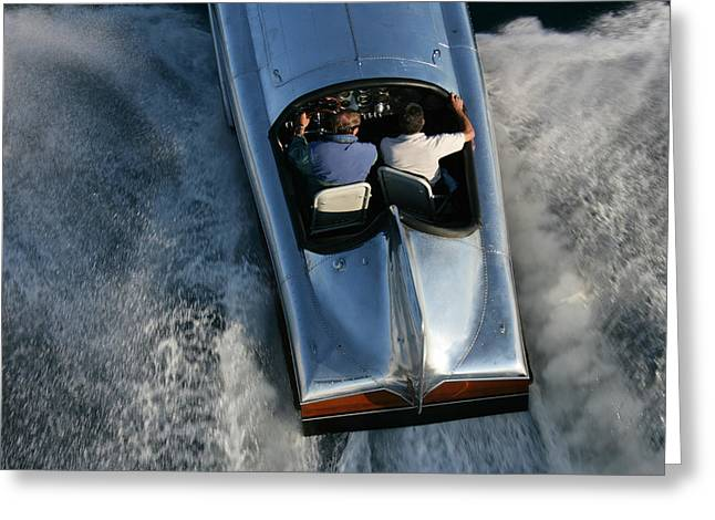 Portofino Italy Greeting Cards - Vintage Racers Greeting Card by Steven Lapkin