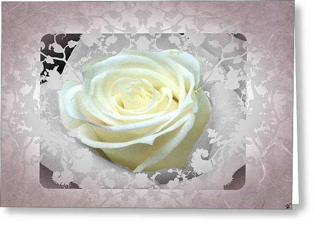 Twinkle Mixed Media Greeting Cards - Wedding Rose Collection  Greeting Card by Debra     Vatalaro