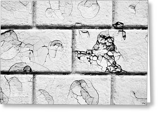 White Brick Wall Greeting Card by Tom Gowanlock