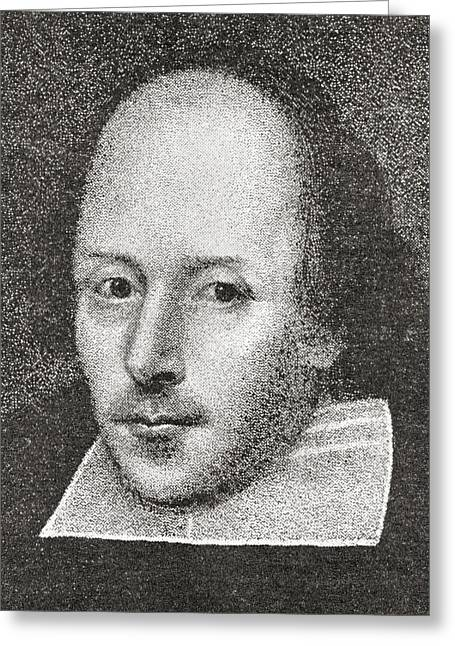 William Shakespeare, 1564 - 1616 Greeting Card by Vintage Design Pics