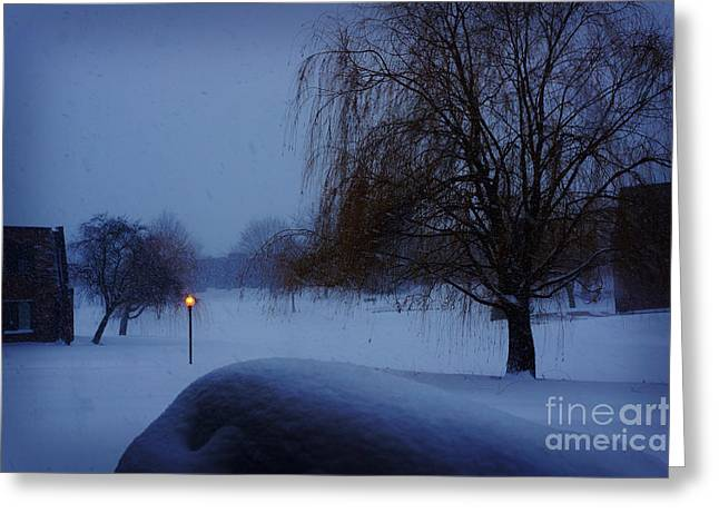 Half Dome Paintings Greeting Cards - Winter Landscape  Greeting Card by Celestial Images
