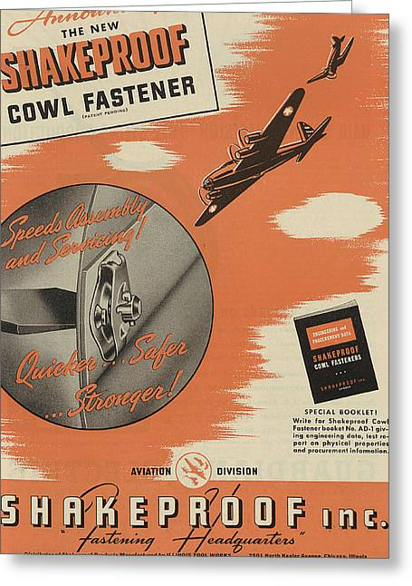 Jet Greeting Cards - World War II Advertisement Greeting Card by American School
