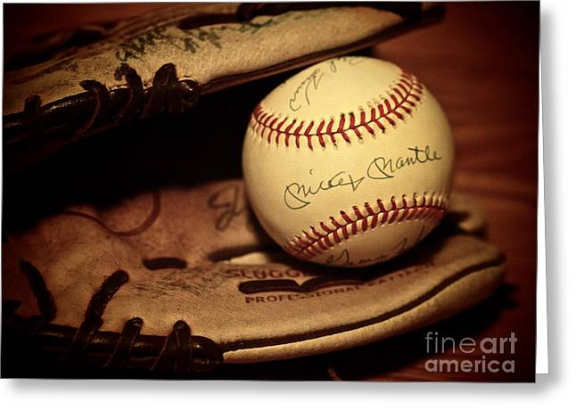 Autographed Baseball Greeting Cards - 50 Home Run Baseball Greeting Card by Mark Miller