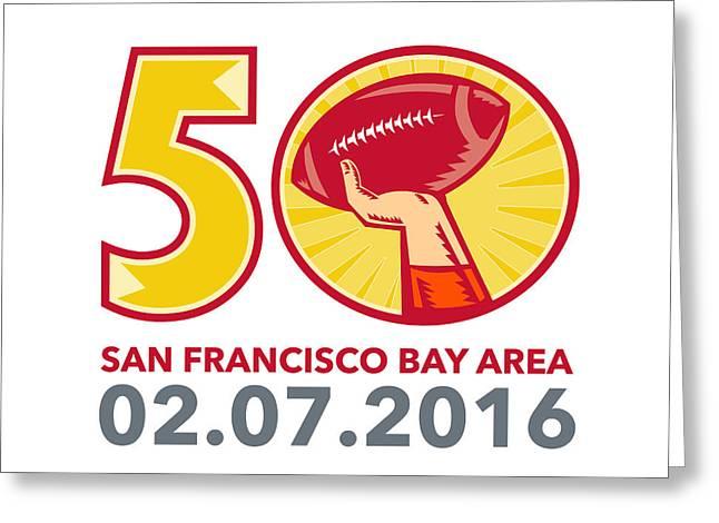 50 Pro Football Championship Sunday 2016 Greeting Card by Aloysius Patrimonio