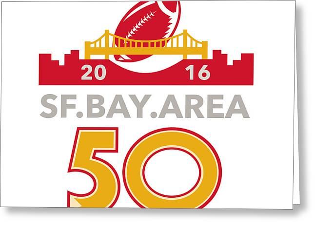50 San Francisco Pro Football Championship Greeting Card by Aloysius Patrimonio