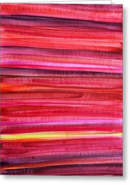 Sienna Greeting Cards - 50 shades of Red-II Greeting Card by Harmeet Singh
