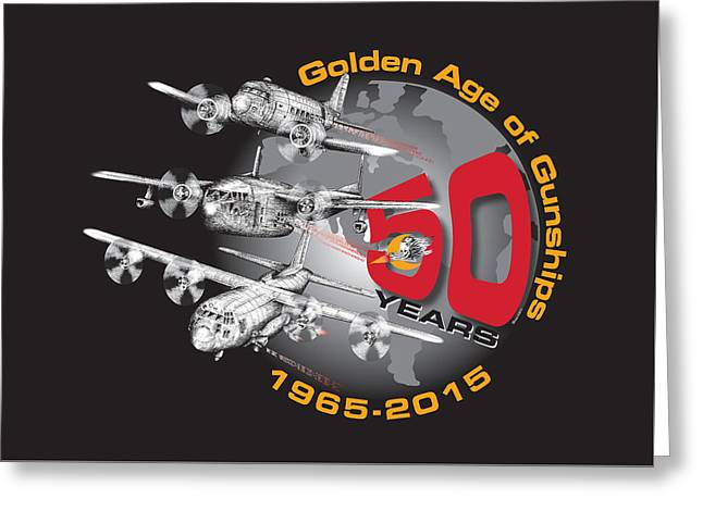 Ac-130 Greeting Cards - 50 years of Gunships Greeting Card by Dennis Bivens