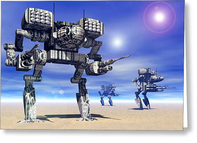 Weaponry Greeting Cards - 501st Mech Trinary Greeting Card by Curtiss Shaffer