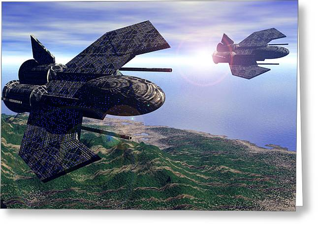 Weaponry Greeting Cards - 501st Phoenix In Flight Greeting Card by Curtiss Shaffer