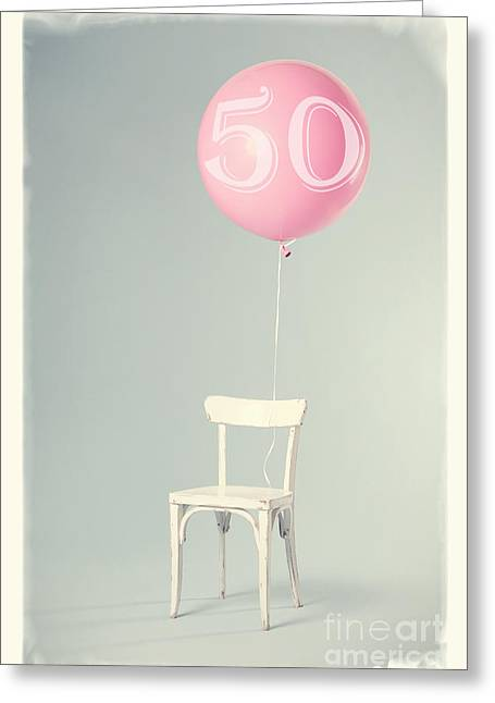 50th Birthday Greeting Card by Edward Fielding