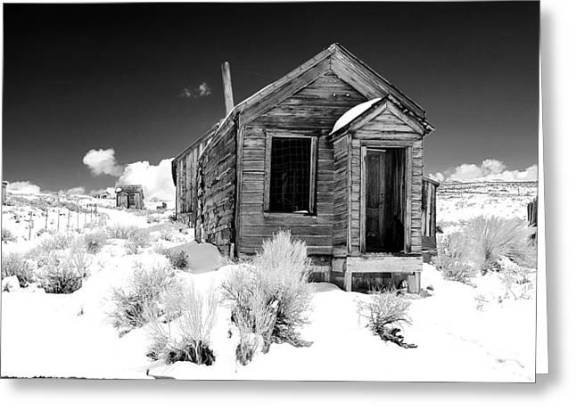 Bodie Ghost Town Greeting Card by Maria Jansson