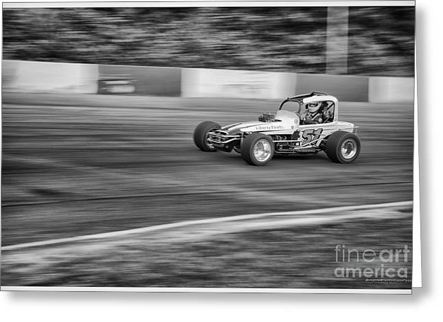 Racecar Number Greeting Cards - 51 In The Lead. Greeting Card by Wayne Wilton