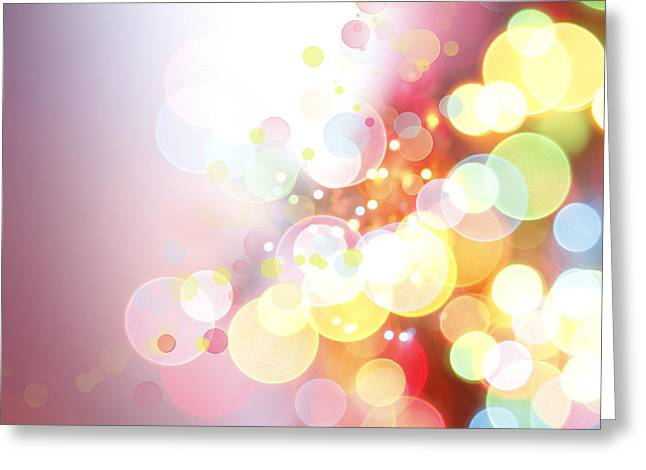 Blurry Greeting Cards - Abstract background Greeting Card by Les Cunliffe