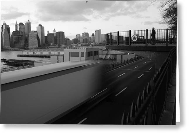 Brooklyn Promenade Greeting Cards - 53 Ft. Truck Greeting Card by Christopher Kirby