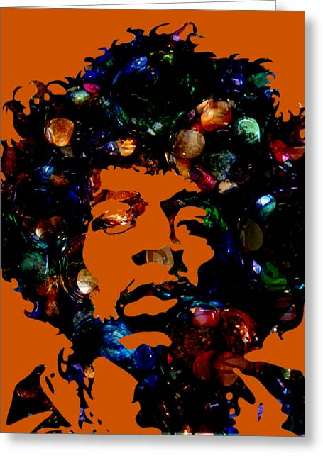 Jimi Hendrix Collection Greeting Card by Marvin Blaine