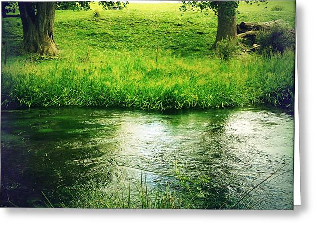Beautiful Creek Greeting Cards - Spring water Greeting Card by Les Cunliffe