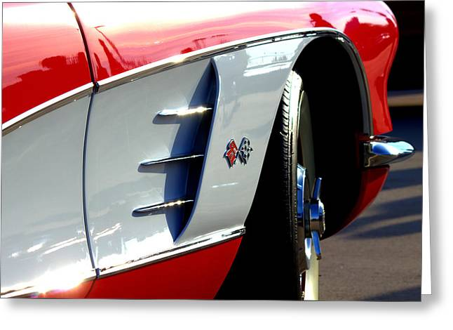 Rally Greeting Cards - 53 Vette Greeting Card by Anthony Evans