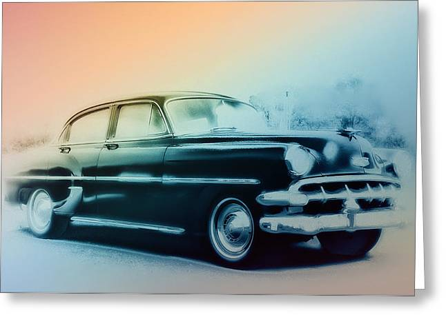 Bill Cannon Greeting Cards - 54 Chevy Greeting Card by Bill Cannon