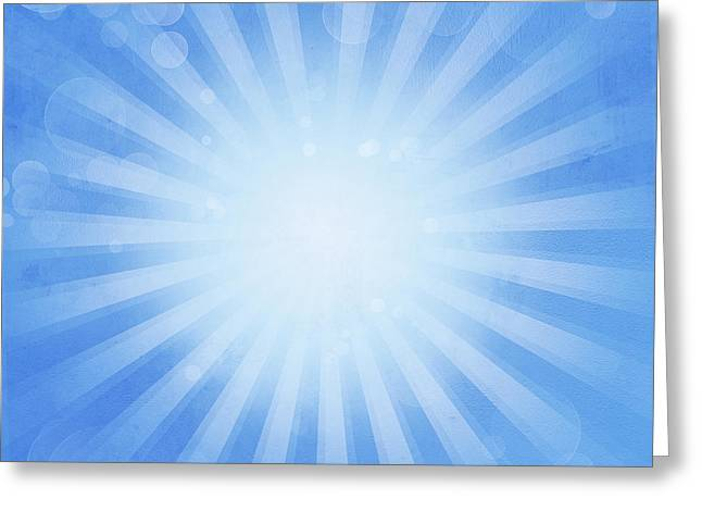 Radiates Greeting Cards - Abstract background Greeting Card by Les Cunliffe
