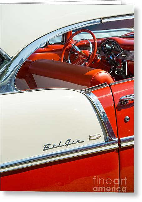 55 Chevrolet Sport Coupe Greeting Card by Tim Gainey