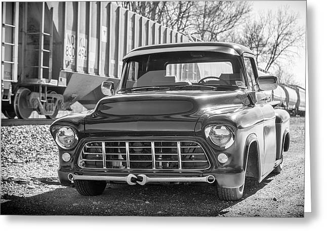 56 Chevy Pickup Greeting Cards - 56 Chevy Truck Greeting Card by Guy Whiteley