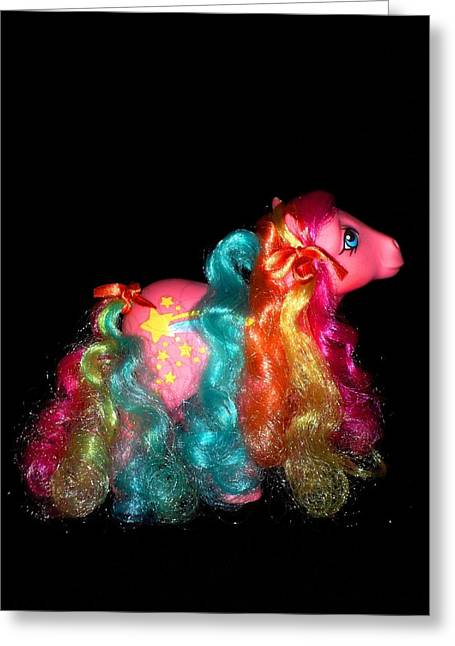 My Little Pony Stripes Rainbow Curl Second Pose Greeting Card by Donatella Muggianu