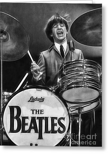 Ringo Starr Collection Greeting Card by Marvin Blaine
