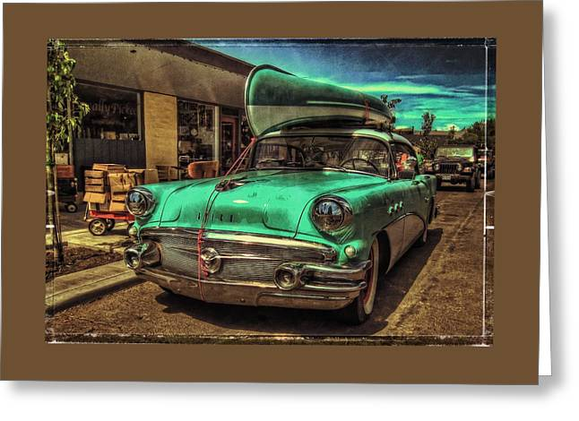 57 Buick - Just Coolin' It Greeting Card by Thom Zehrfeld