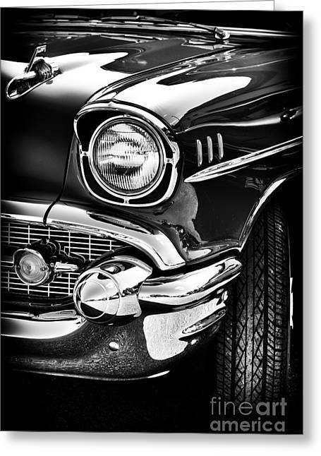 Front End Greeting Cards - 57 Chevy Greeting Card by Tim Gainey