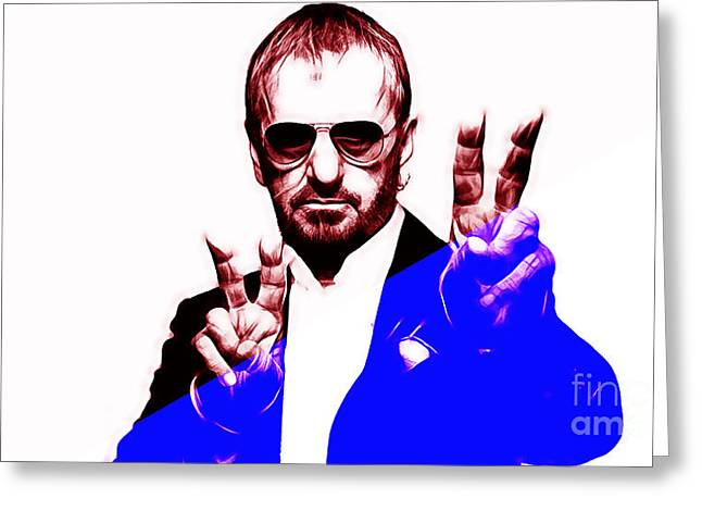 Pop Mixed Media Greeting Cards - Ringo Starr Collection Greeting Card by Marvin Blaine
