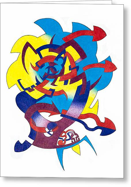 Saw Drawings Greeting Cards - Sawzipper Greeting Card by Scott Soucy