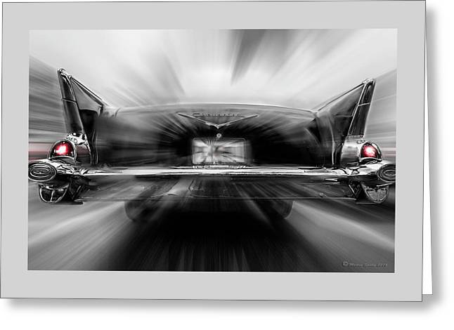 57' Taillights Greeting Card by Marvin Spates