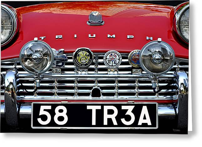 Jacksonville Greeting Cards - 58 Triumph TR3A Greeting Card by William Jones