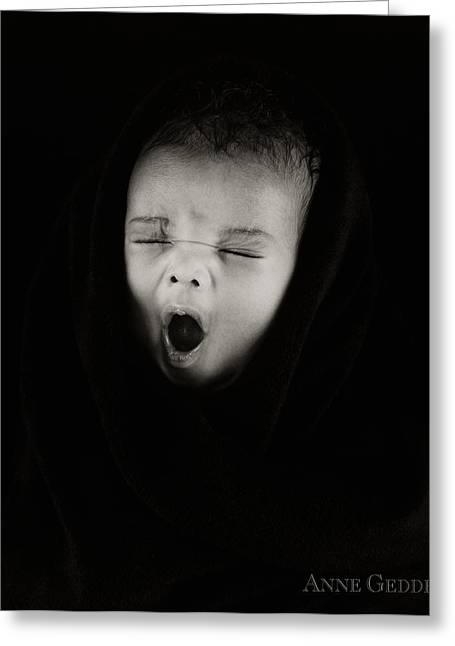 Yawning Greeting Cards - Untitled Greeting Card by Anne Geddes