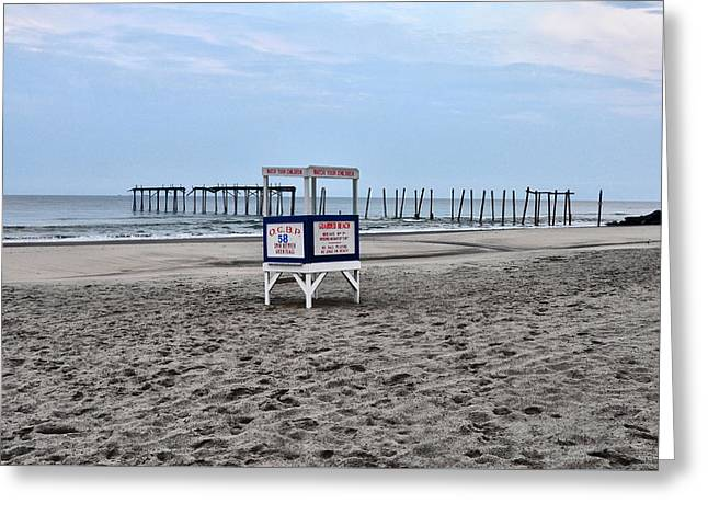 Bill Cannon Photography Greeting Cards - 59th Street Pier in Ocean City Greeting Card by Bill Cannon